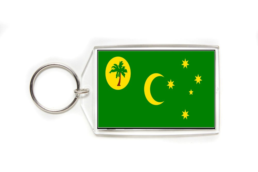 Cocos Keeling Islands Flag Double Sided Acrylic Key Ring Large