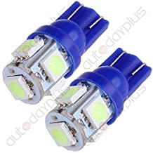 10X Ice Blue T10 Wedge 5050 5SMD W5W 168 194 2825 175 LED Dash Light
