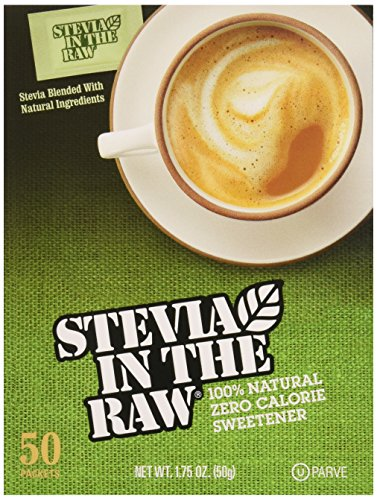 Stevia Sweetener In The Raw, 50 Count Package