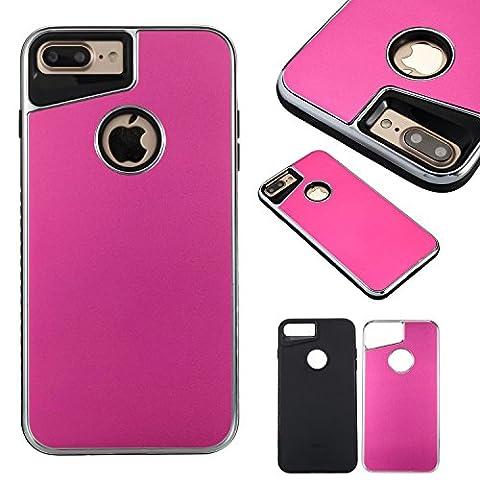 iPhone 8 Plus Case, iPhone 7 Plus Case Girl, Ultra Slim Fit iPhone 7 Plus Aluminum Case Design,Dual Layer Protective Bumper Anti-Scratch Shockproof iPhone 7 Plus Pink Case for Apple iPhone 7 Plus Case