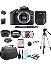$549 » Canon EOS Rebel T7 DSLR Camera with 18-55mm f/3.5-5.6 Zoom Lens + 32GB Card, Tripod, Case, and Model Electronics Kit (International Model)