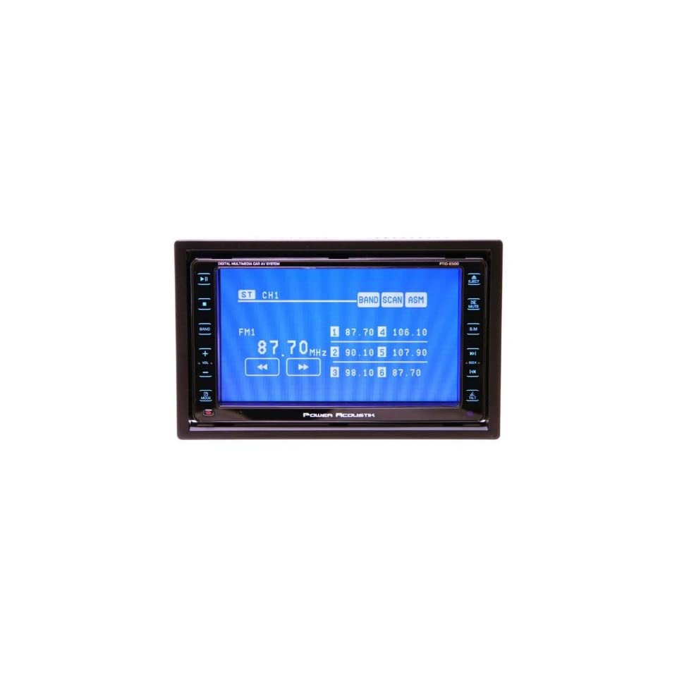 2008, Brand New Power Acoustik Ptid 6500 6.5 Feather touch Screen Double Din Dual Zone Monitor with Built in Dvd/cd/ Player and Sd Card Slot