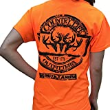 Country Life Triple Deer Skull Orange Short Sleeve Shirt (Small) offers