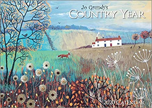 Jo Grundy A4 Calendar 2020 Country Year