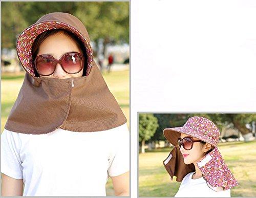 0253e89c8de Women Sun Cap Flap Hats 360° Sun Shade Neck Face Protection Outdoor Sports  Visor Hats ...