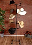 Industrial Pipe Hat Rack Display Stand by William Robert's Vintage