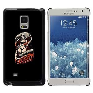 Caucho caso de Shell duro de la cubierta de accesorios de protección BY RAYDREAMMM - Samsung Galaxy Mega 5.8 - Selfish 2 - Sezxy Machete Chica