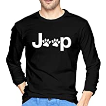 Men's Jeep Wrangler Dog Paw Long Sleeve Funny Shirts 2016