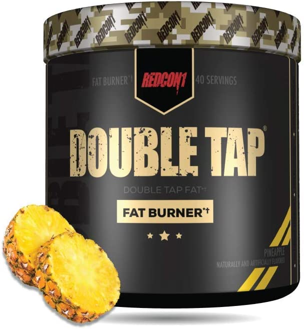 REDCON1 - Double Tap - Fat Burner - Muscle-Preserving Fat Burner, Thermogenic Weight Loss Supplement – Keto Friendly, Appetite Suppressant - for Men and Women - 40 Servings (Pineapple)