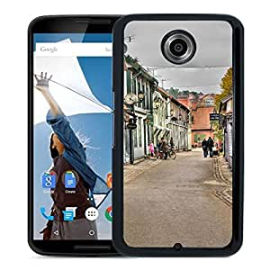 New Beautiful Custom Designed Cover Case For Google Nexus 6 With Old Street Phone Case
