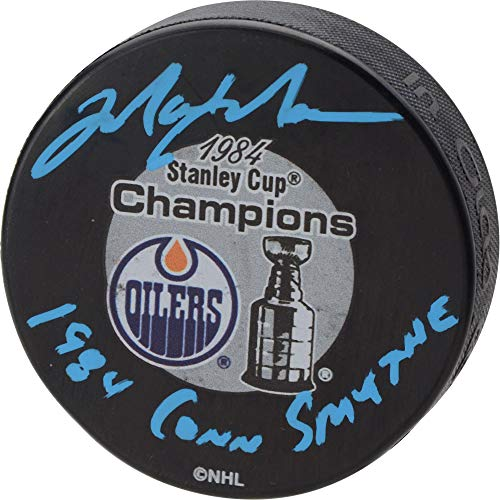 Mark Messier Edmonton Oilers Autographed 1984 Stanley Cup Champions Logo Hockey Puck with