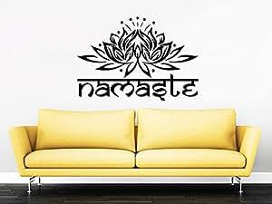 Wall Decals Yoga Namaste Words Lotus Flower Buddha Ganesha Mandala Yoga Studio Wall Vinyl Decal Stickers Bedroom Murals