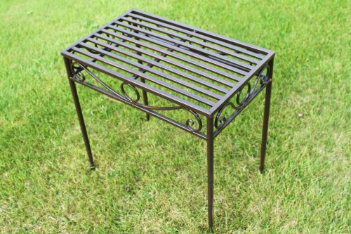 REDUCED-Versailles Metal Side Table or Plant Stand in Antique Bronze Finish (Mid Size)- Ideal for the Home or Garden