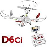 D6CI DRONE: FPV with HD Camera & Video Remote Control Drone - Quadcopter