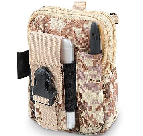 Multifunktion Mobiltelefon Diagonale Umhängetasche draussen tragen Gürtel Taschen , camouflage