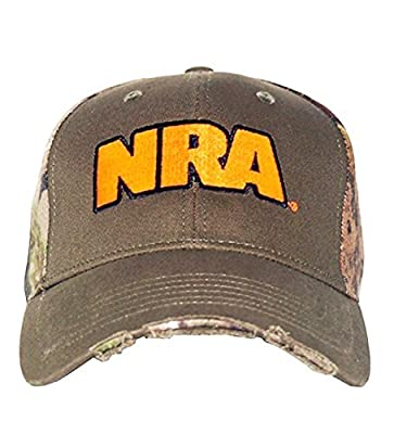 NRA Men's Zeroed In Adjustable Fit Hat Green by CLUB RED LLC