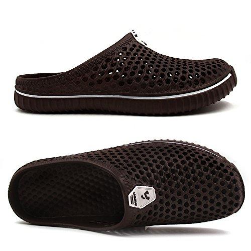 Amoji Unisexe Sabots De Jardin Chaussures Pantoufles Sandales Marron