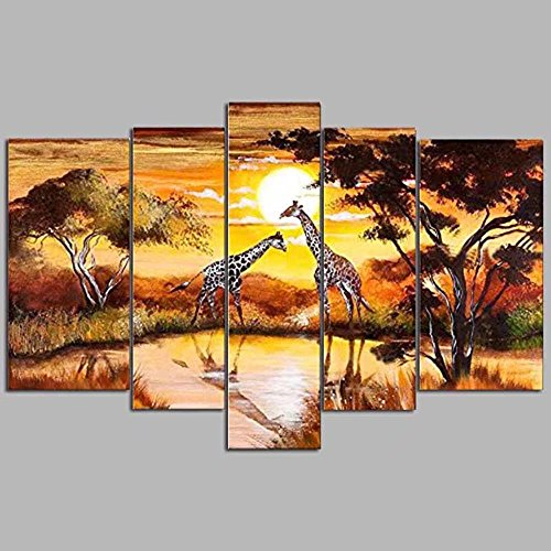 Easy Painter(TM) Diamond Painting by Number Cross Stitch Diamond Mosaic Mandala Painting Embroidery for Wall Decoration Home Wall Decor (with Kits) (Giraffe, M)