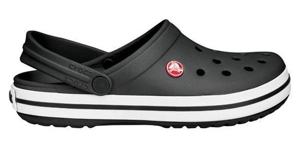 Crocs Unisex Adults Classic Clog Shower Beach Lightweight Water Shoes - Black - M4/W6