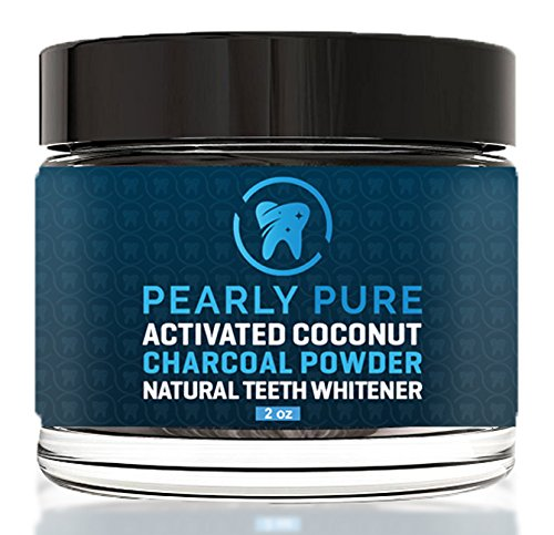 Pearly Pure Activated Coconut Charcoal Powder - Natural Teeth Whitening – Made in USA