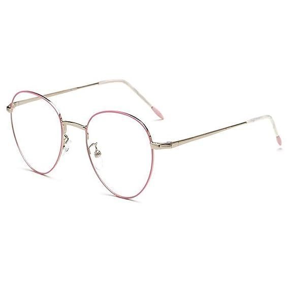 Deylaying Retro/Vendimia Oval Gafas para Mujer y Hombres Clear lente ...