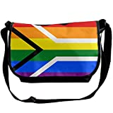 Futong Huaxia Rainbow Flag Of South Africa Travel Messenger Bags Casual Handbag School Shoulder Bag Crossbody Bag Unisex Sling Bag