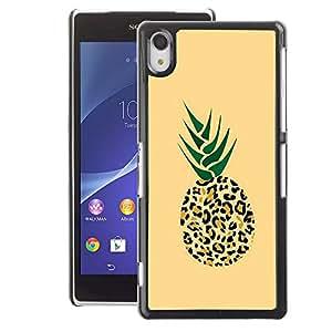 A-type Arte & diseño plástico duro Fundas Cover Cubre Hard Case Cover para Sony Xperia Z2 (420 Puma Pineapple Weed Cannabis)
