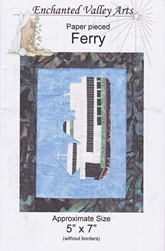 Washington State Ferry, Enchanted Valley Arts, DIY Paper Pieced Quilt Block Pattern