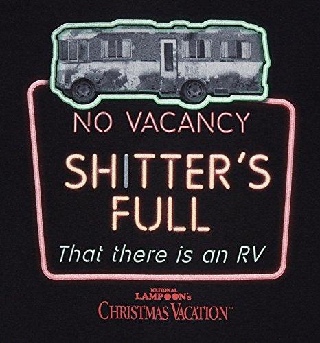 Mens Black National Lampoons Christmas Vacation T Shirt