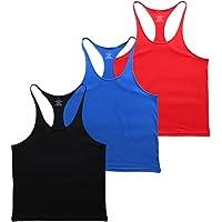 Muscle Alive Hombre Camisetas de Tirantes Entrenamiento Hombre Fitness Deportivo Gimnasio Tops Camisetas T-Shirts…