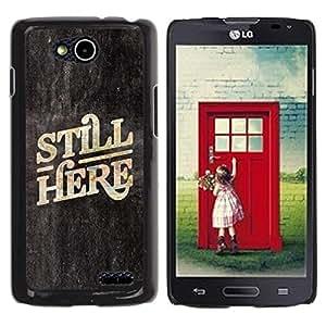 Be Good Phone Accessory // Dura Cáscara cubierta Protectora Caso Carcasa Funda de Protección para LG OPTIMUS L90 / D415 // Here Now Quote Slogan Blackboard