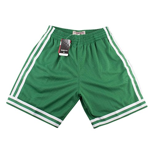 Mitchell & Ness Boston Celtics NBA Green 1985-86 Hardwood Classics Throwback Soul Swingman Away Shorts For Men (M) ()