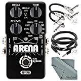 TC Electronic Arena Reverb Pedal and Accessory Bundle w/ Xpix 1/4'' TRS Cable + 1/4'' Right Angle Phone Male Cable + Fibertique Cloth