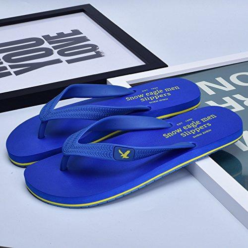 e estive Sandali Uomo Sandali Color spiaggia da AIHUWAI Infradito Sandali Wear Sliding Uomo Solid Scarpe Blue Dark ciabatte Uomo Anti OF65IxPqw