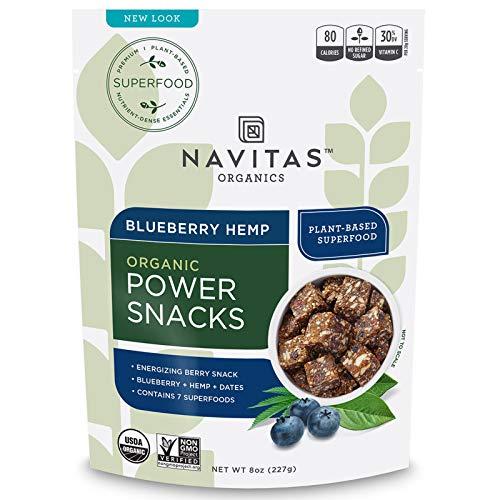 Navitas Organics Superfood Power Snacks, Blueberry Hemp, 8 oz. Bag