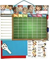 TABLA RECOMPENSAS Magnética Grande | Pizarra de tareas para Pared o Frigorífico, 43x32cm. 12 actividades, 2 rotuladores y 1 Globo | Presentación Caja ideal como Regalo para niños y cumpleaños