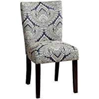 HOMES: Inside + Out IDF-3507B-SC Lipa Side Chair Contemporary (Set of 2), Blue