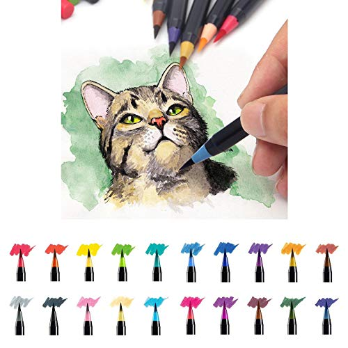 20 Pieces Color Brush Pens Set Watercolor Brush Pen Color Markers for Painting Cartoon Sketch Calligraphy Drawing Manga Brush        Amazon imported products in Lahore