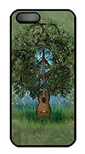Guitar Tree Custom PC Hard For Iphone 5/5S Phone Case Cover Black
