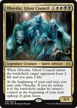 Obzedat, Ghost Council - Foil - Modern Masters 2017 ()