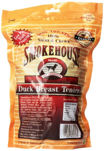 Smokehouse 100 Natural Duck Breast Tenders Dog Treats