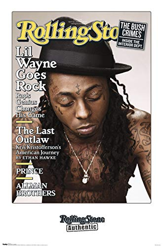 Trends International Rolling Stone-Lil Wayne Mount Bundle Wall Poster, 22.375