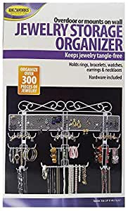 "Jobar Organizing Jewelry Valet coated wire (White) (14.5""H x 23.75""W x 2.375""D)"