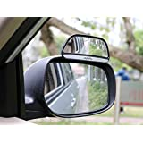 Sheiy Blind Spot Mirror ,Reversing auxiliary mirror,Rectangle Wide Adjustable Angle Convex Clip On Half Oval Rear View Conter Blind Spot Angle Auxiliary Mirrors For Car,2 Pack