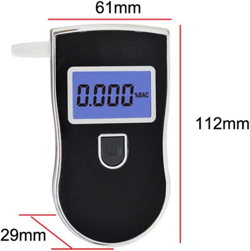 luckything Ethylotest Electronique Homologu/é Testeur dalcool Portable Num/érique Affichage LCD Num/érique Et Son Dalarme,avec 5 Embouchures Alcootest Ethylotest Electronique