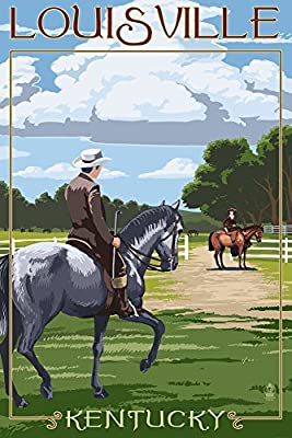 Louisville, Kentucky - Horse Riders (9x12 Collectible Art Print, Wall Decor Travel Poster)