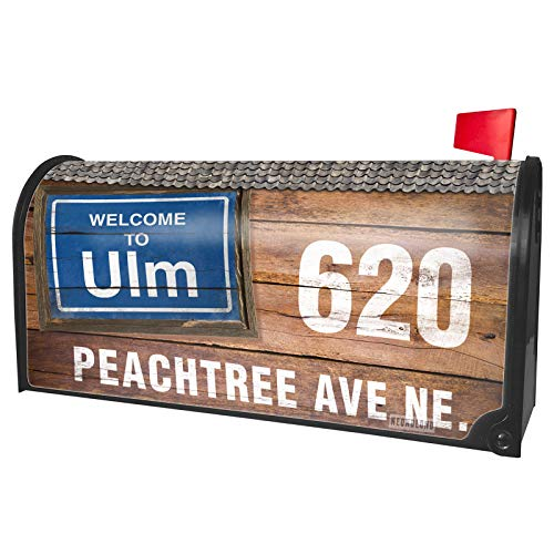 NEONBLOND Custom Mailbox Cover Sign Welcome to ULM ()