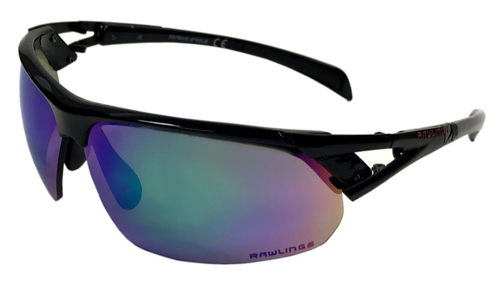 cc0e6048273 Amazon.com   Rawlings 28 Sunglasses Black Green   Sports   Outdoors
