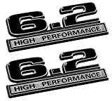 2010 camaro emblems - 6.2 Liter High Performance Emblems in Black and Chrome - Pair