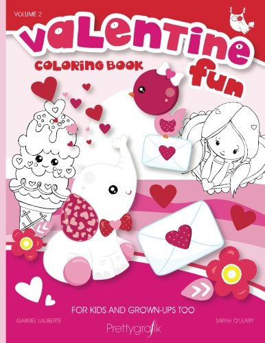 Valentine Fun coloring book: Valentine's day coloring book for kids and adults - 28 drawings (Prettygrafik collating books) (Volume 2)